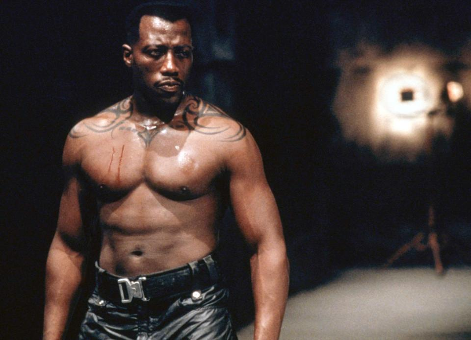 Wesley Snipes as Marvel's vampire slayer, Blade (Photo: New Line Cinema/courtesy Everett Collection)