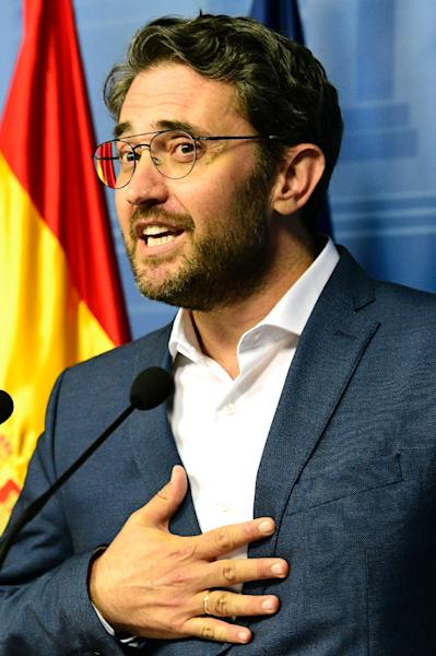 Spanish minister of culture and sports Maxim Huerta resigned after it emerged he had been fined for tax fraud last year (AFP Photo/JAVIER SORIANO)
