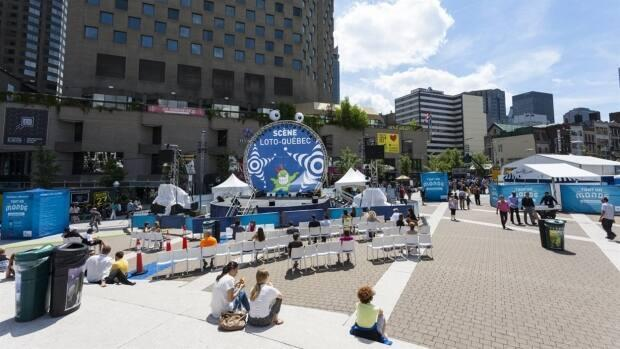 Free outdoor shows will return to downtown Montreal as part of the hybrid event. (Daniel Herrera Castillo/Radio-Canada - image credit)