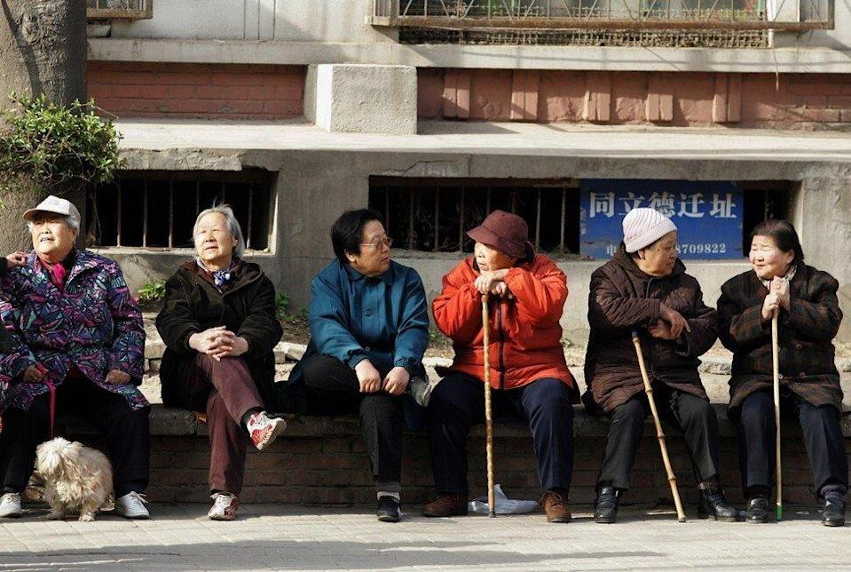 People aged over 60 are expected to account for about one-third of China's population by 2050. Photo: AFP