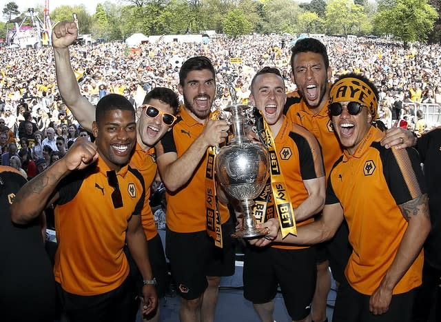 Jota helped Wolves win the Championship title in 2018