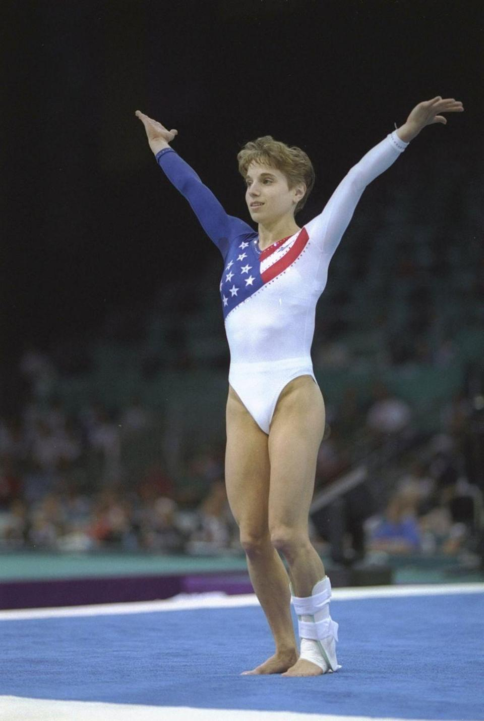 <p><em>Kerri Strug</em></p><p>This one had a blue sleeve, though, so that's a little different.</p>