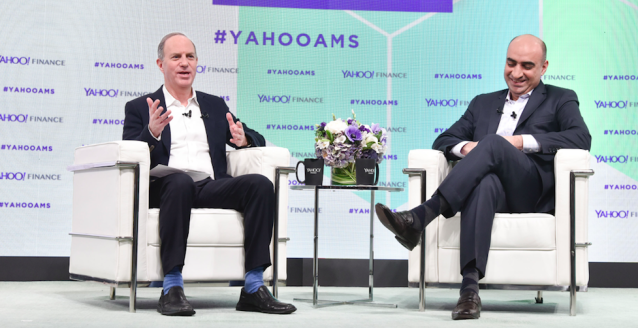 JPMorgan's Umar Farooq speaks to Yahoo Finance's editor-in-chief Andy Serwer at the All Markets Summit in New York. (Getty Images/ Eugene Gologursky)