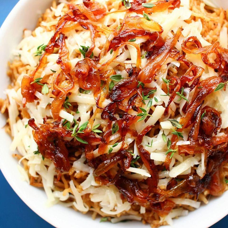 <p>Get the French Onion Rice recipe.</p>