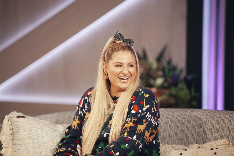 THE KELLY CLARKSON SHOW -- Episode 4039 -- Pictured: Meghan Trainor -- (Photo by: Weiss Eubanks/NBCUniversal/NBCU Photo Bank via Getty Images)