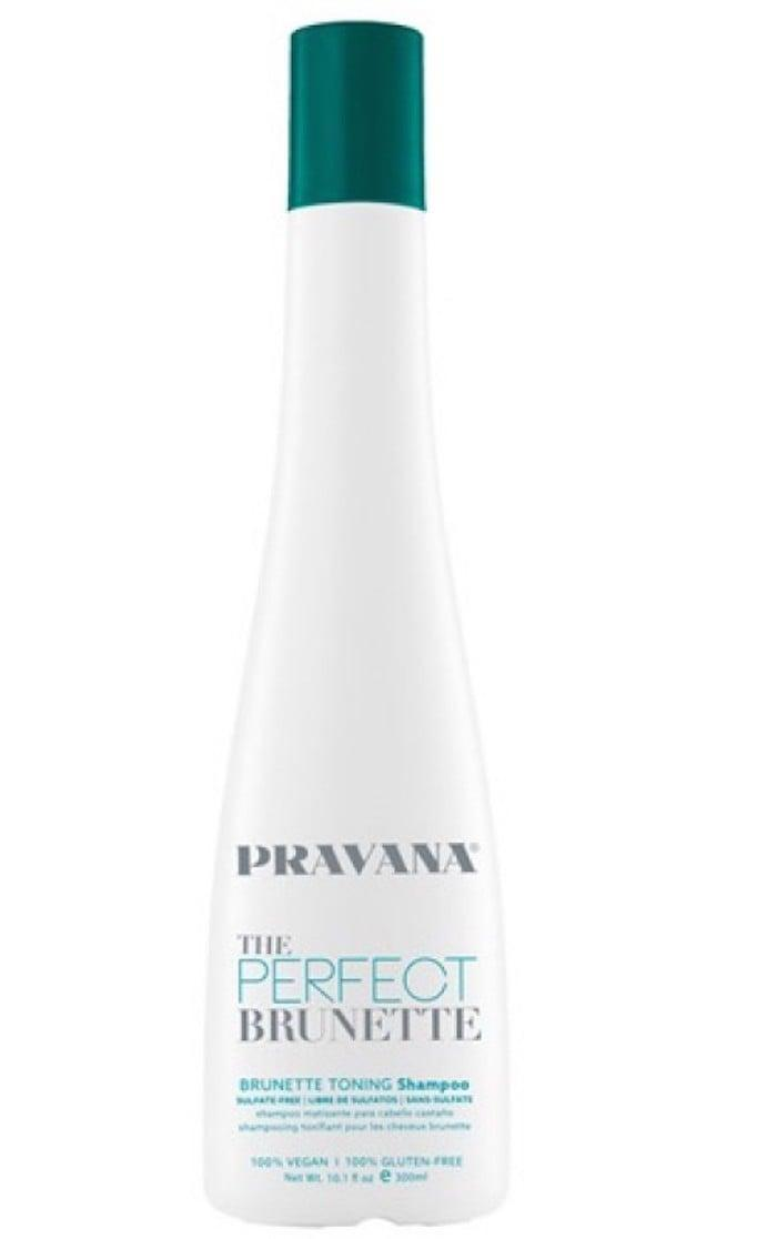 <p>Use this <span>Pravana The Perfect Brunette Brunette Toning Shampoo</span> ($20) if you're constantly combating brassiness. Hints of red and orange will go away after a few uses.</p>