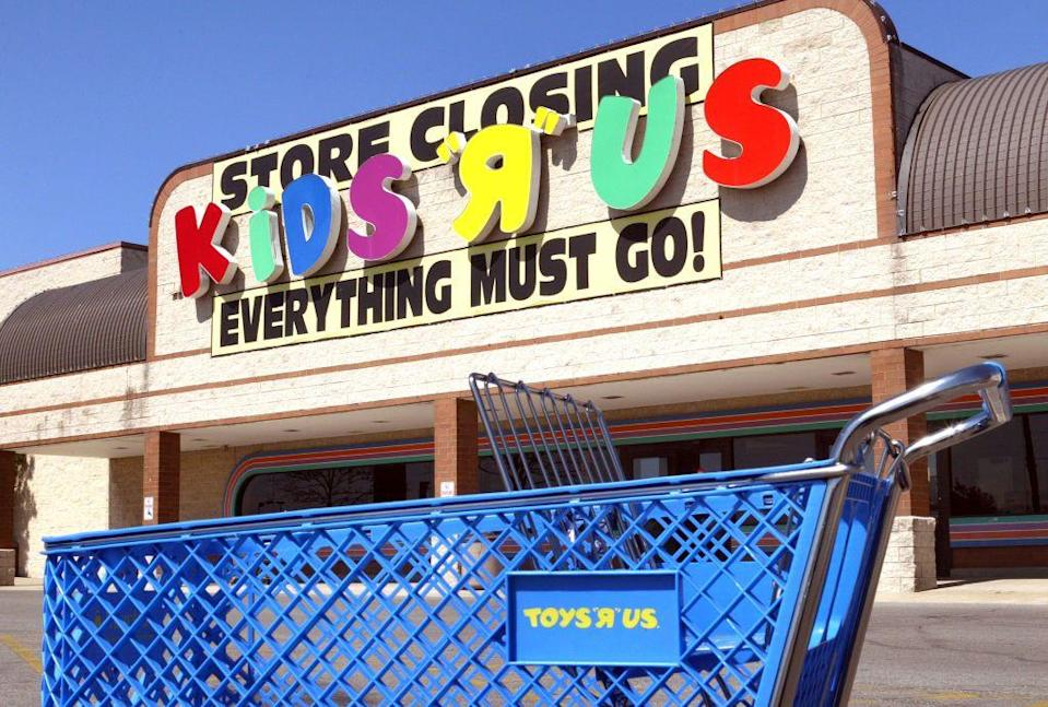"""<p>Kids """"R"""" Us was launched back in 1983 as an offshoot of Toys """"R"""" Us to sell children <em>and</em> teen clothing. Despite the original success of Toys """"R"""" Us, the clothing store was forced to close its 146 stores in 2003.</p>"""