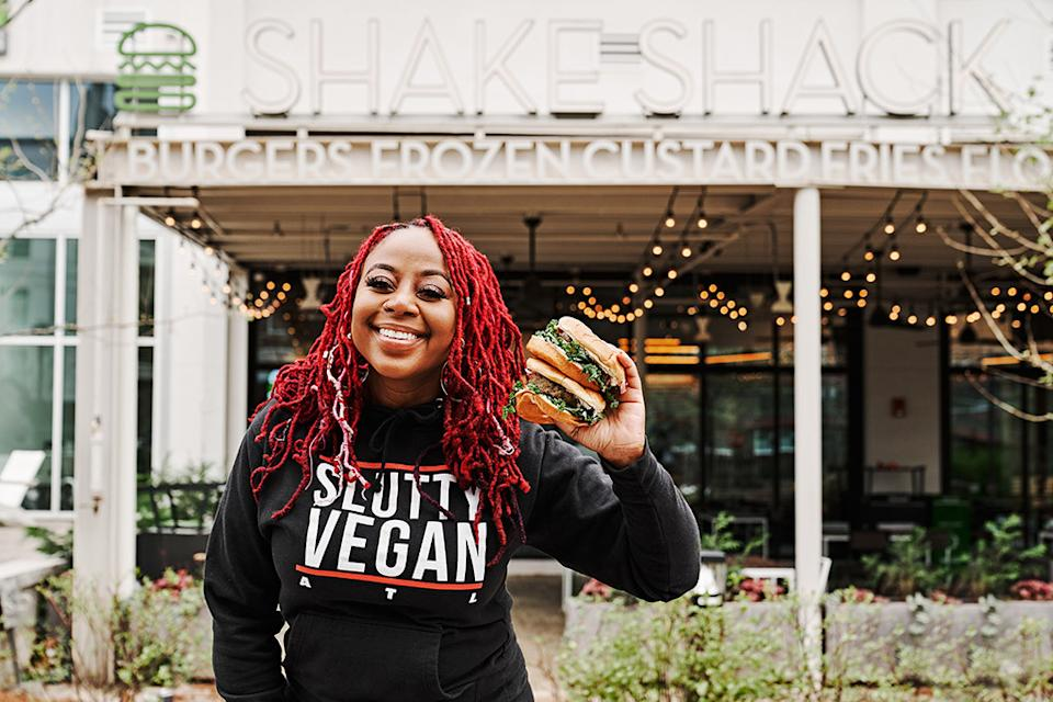 This limited-time collab sandwich pays homage to elements of Pinky's most-popular menu items COURTESY: Shake Shack
