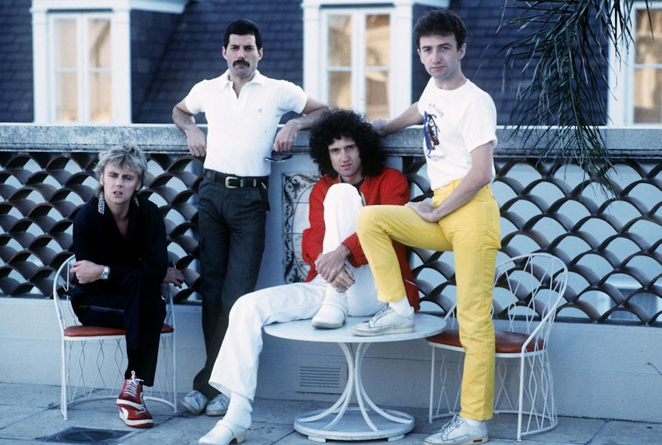 Queen the rock band Freddie Mercury, Brian May, Roger Taylor, John Deacon seen here in New Orleans, USA, where they are rehearsing for their forthcoming tour of South America. 21st September 1981.  (Photo by Gavin Kent/Mirrorpix/Getty Images)