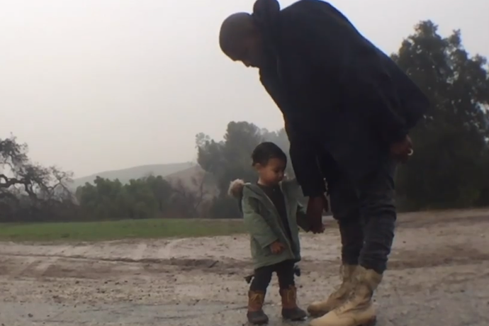 North starred in dad Kanye's music video when she was two years old. Copyright: [YouTube]