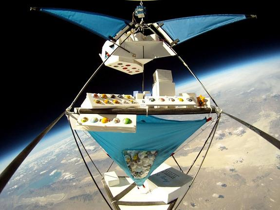 Balloon-carrying payloads include PongSats, MiniCubes, and advertisements – as well as wedding rings.