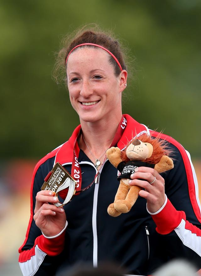 LYON, FRANCE - JULY 22: Tatyana McFadden of USA with her Gold medal in the Women's 5000m T54 during day three of the IPC Athletics World Championships on July 22, 2013 in Lyon, France. (Photo by Julian Finney/Getty Images)