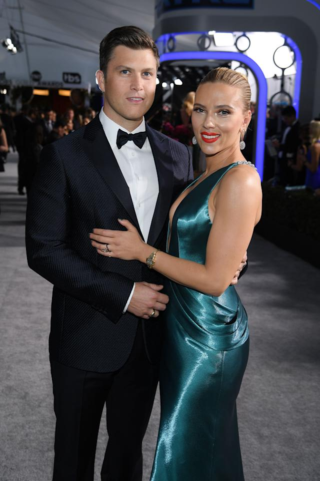 """<p><a href=""""https://www.harpersbazaar.com/culture/interiors-entertaining/a9928/scarlett-johansson-los-angeles-home/"""" target=""""_blank"""">Scarlett Johansson</a> and Colin Jost's love story is one for the ages. The famous actress and <em>SNL</em>'s head writer seemingly hit it off during one of <a href=""""https://www.harpersbazaar.com/culture/film-tv/news/a21352/snl-ivanka-trump-complicit-fake-fragrance-ad/"""" target=""""_blank"""">Johansson's stints on the show</a>. Since then, they've proven themselves to be adorable both on and off the red carpet. Here's everything you need to know about <a href=""""https://www.harpersbazaar.com/celebrity/latest/news/a4658/scarlett-johansson-most-fascinating-people/"""" target=""""_blank"""">Johansson's</a> engagement to Jost.</p>"""