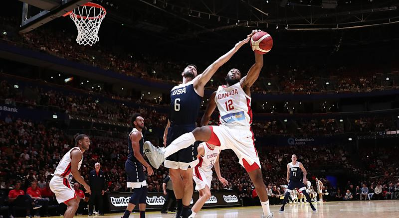 Canada struggled against Team USA's length. (Photo by Mark Metcalfe/Getty Images)