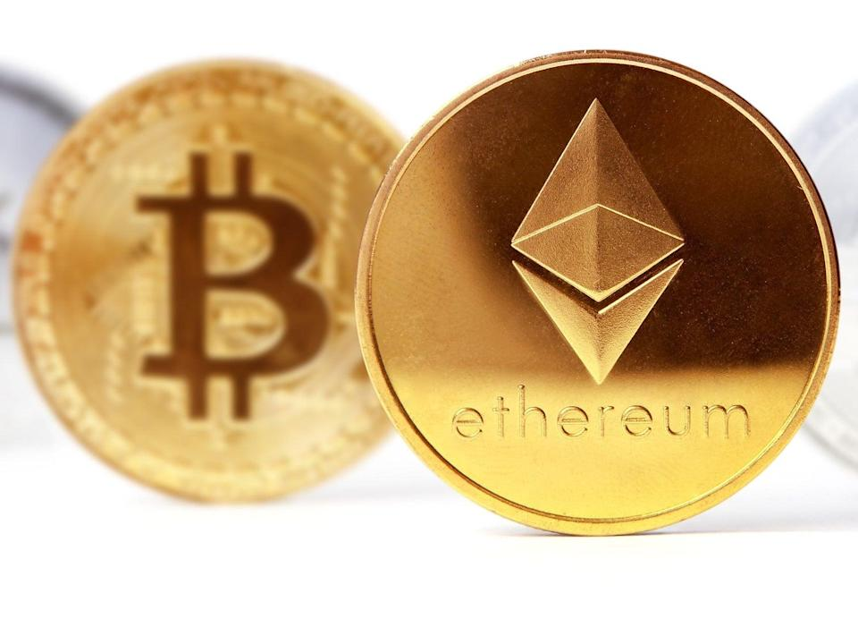 Ethereum rose in price by 360 per cent in the first four months of 2021, outpacing bitcoin's gains (Getty Images)