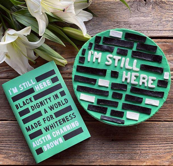 PHOTO: A gluten-free pie crust designed by Stephanie Hockersmith to resemble Austin Channing Brown's book cover. (Stephanie Hockersmith)