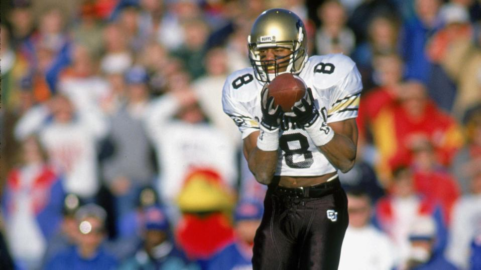 """Former Colorado wide receiver and defensive back Anthony """"T.J."""" Cunningham died on Monday after he was shot in a dispute over a parking spot. (Bernstein Associates/Getty Images)"""