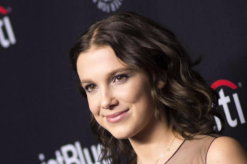 Millie Bobby Brown: The 14-year-old Stranger Things star joined the likes of Prince Harry and Meghan Markle on the magazine's list: AFP/Getty Images