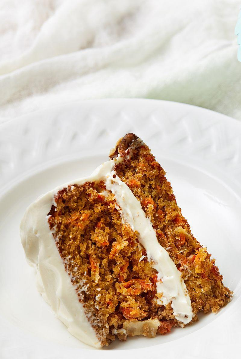 """<p>This classic <a href=""""https://www.delish.com/cooking/recipe-ideas/recipes/a58283/best-carrot-cake-recipe/"""" rel=""""nofollow noopener"""" target=""""_blank"""" data-ylk=""""slk:carrot cake"""" class=""""link rapid-noclick-resp"""">carrot cake</a> is so flavourful, so moist, and so chock-full of goodness (toasted coconut! pineapple! walnuts!) that we doubt you'd ever suspect it was gluten free. The cream cheese frosting helps too. 😉 </p><p>Get the <a href=""""https://www.delish.com/uk/cooking/recipes/a32014969/gluten-free-carrot-cake-recipe/"""" rel=""""nofollow noopener"""" target=""""_blank"""" data-ylk=""""slk:Gluten Free Carrot Cake"""" class=""""link rapid-noclick-resp"""">Gluten Free Carrot Cake</a> recipe.</p>"""
