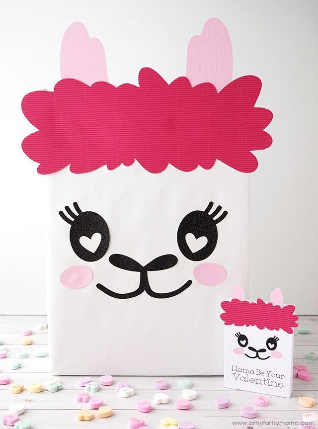 """<p>This too-cute llama is just perfect for holding all your kids' Valentine's cards.</p><p><strong>Get the tutorial at</strong> <a href=""""https://www.artsyfartsymama.com/2019/01/llama-valentine-card-box.html"""" rel=""""nofollow noopener"""" target=""""_blank"""" data-ylk=""""slk:Artsy Fartsy Mama."""" class=""""link rapid-noclick-resp""""><strong>Artsy Fartsy Mama.</strong></a></p><p><a class=""""link rapid-noclick-resp"""" href=""""https://www.amazon.com/Aleenes-40642-Quick-Tacky-Multi/dp/B07PWJ3KJ2/?tag=syn-yahoo-20&ascsubtag=%5Bartid%7C2164.g.35119968%5Bsrc%7Cyahoo-us"""" rel=""""nofollow noopener"""" target=""""_blank"""" data-ylk=""""slk:SHOP CRAFT GLUE"""">SHOP CRAFT GLUE</a></p>"""