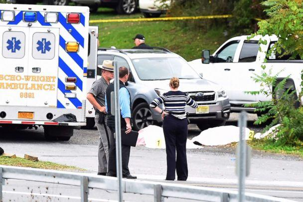 PHOTO: The scene of a deadly limousine crash in Schoharie, N.Y., Oct. 6, 2018. (Peter R. Barber/The Daily Gazette of Schenectady, N.Y.)