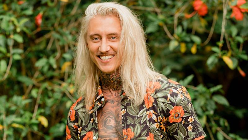 Ciarran Stott's long blonde hair on bachelor in Paradise promo shot