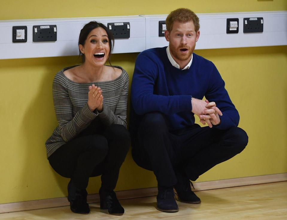 <p>Harry and his Meghan attended a street dance class during their visit to Star Hub in Cardiff, Wales and couldn't help but share their delight at watching the students put on a performance in January 2018. We can't wait to see what they'll be like as parents in the future! </p>