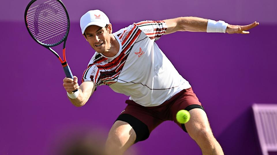 Andy Murray, pictured here in action against Benoit Paire at The Queen's Club.