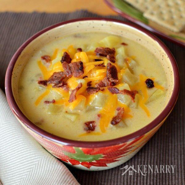 """<p>Do you remember as a kid gagging as your parents forced you to eat mashed potatoes, or worse, potato soup? If so, don't rule out the power of potatoes just yet. This meal will change your opinion. With delicious ham and cheddar cheese, this soup is the comfort food of your dreams, best savoured in your favourite oversized sweater and wool socks.<i> (Photo/recipe via <a href=""""http://belleofthekitchen.com/2014/11/04/slow-cooker-loaded-potato-soup/"""" rel=""""nofollow noopener"""" target=""""_blank"""" data-ylk=""""slk:Belle of the Kitchen"""" class=""""link rapid-noclick-resp"""">Belle of the Kitchen</a>)</i></p>"""