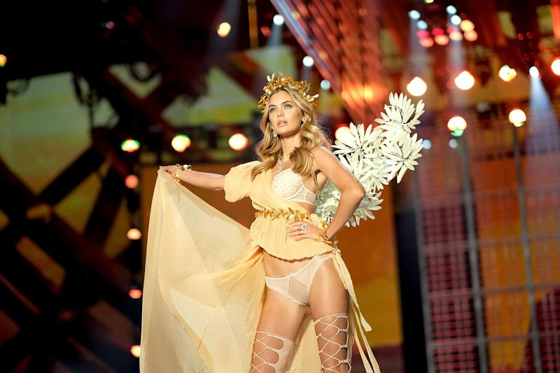 SHANGHAI, CHINA - NOVEMBER 20: Megan Williams walks the runway during the 2017 Victoria's Secret Fashion Show In Shanghai at Mercedes-Benz Arena on November 20, 2017 in Shanghai, China. (Photo by Matt Winkelmeyer/Getty Images for Victoria's Secret)