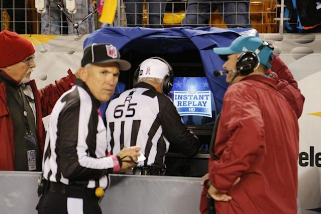 NFL officials will now look at sideline tablets for replay reviews. (AP)