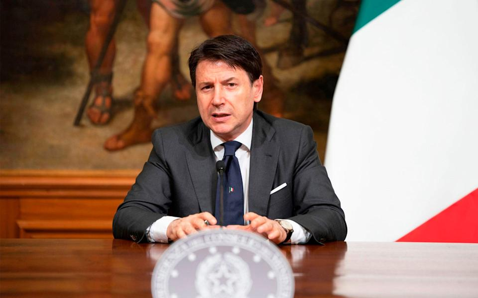 Italy's Prime Minister Giuseppe Conte  - AFP