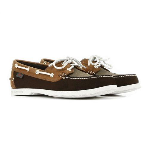 "<p><a class=""body-btn-link"" href=""https://www.ghbass-eu.com/men/style/boat-shoes/jetty-ii-boater-mid-brown-tan-nubuck.html"" target=""_blank"">SHOP</a></p><p>GH Bass makes bloody good shoes at a bloody great price and its tan nubuck boat shoes will help you steer away from any Waspy overtones. Try them with indigo selvedge jeans, <a href=""https://theworkersclub.co.uk/collections/autumn-winter-20/products/mens-13oz-japanese-selvedge-denim-jacket-natural"" target=""_blank"">ecru denim jacket </a>and a blue Breton tee (for just a hint of nauticality) </p><p>Jetty II Boater Mid Brown and Tan Nubuck, £100, <a href=""https://www.ghbass-eu.com/men/style/boat-shoes/jetty-ii-boater-mid-brown-tan-nubuck.html"" target=""_blank"">ghbass-eu.com</a></p>"