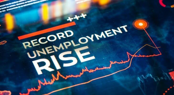 """Sign that says, """"Record Unemployment Rise"""""""