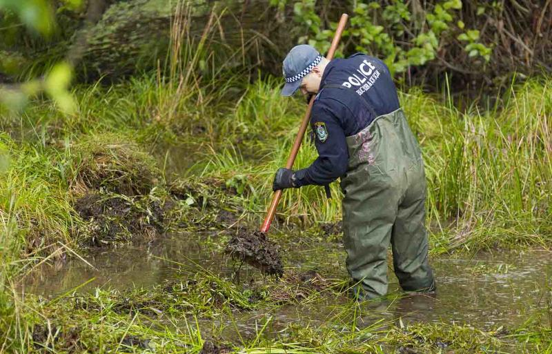 NSW Police search bushland at Batar Creek in NSW, looking for evidence in the William Tyrrell disappearance. Source: AAP