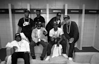 """<p>N.W.A. before their performance during the """"Straight Outta Compton"""" tour at Kemper Arena in Kansas City in 1989.</p>"""