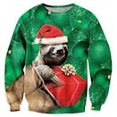 <p>If you love sloths, you clearly need this <span>Raisevern Ugly Christmas Sweater</span> ($22).</p>