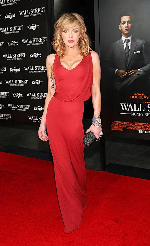 """It's been years since Courtney Love has looked this good, but the rocker simply wowed the crowd at the NYC premiere of """"Wall Street: Money Never Sleeps"""" on Monday night. How polished and pretty was Courtney in her slinky red Calvin Klein gown? Mike Coppola/<a href=""""http://www.filmmagic.com/"""" target=""""new"""">FilmMagic.com</a> - September 20, 2010"""