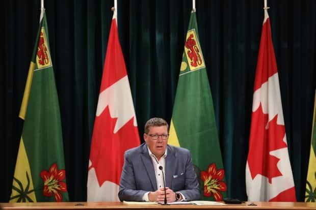 Saskatchewan Premier Scott Moe announced on social media Thursday morning that his government is implementing a mask mandate and proof of vaccination policy. (Matt Duguid/CBC - image credit)