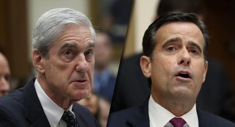 Robert Mueller and Rep. John Ratcliffe. (Photos: Leah Mills/Reuters, Andrew Harnik/AP)