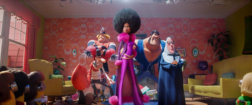 The Vicious 6 in a still from <i>Minions 2: The Rise of Gru</i>. (Illumination/Universal Pictures)