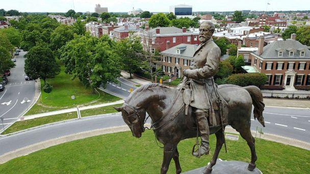 PHOTO: The statue of Confederate General Robert E. Lee stands in the middle of a traffic circle on Monument Avenue in Richmond, Va., June 27, 2017. (Steve Helber/AP, FILE)