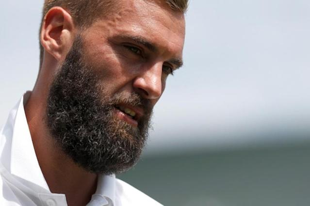 France's Benoit Paire, seen here during Wimbledon, is through to the third round of the ATP Winston-Salem Open after a victory over India's Prajnesh Gunneswaran (AFP Photo/Adrian DENNIS)
