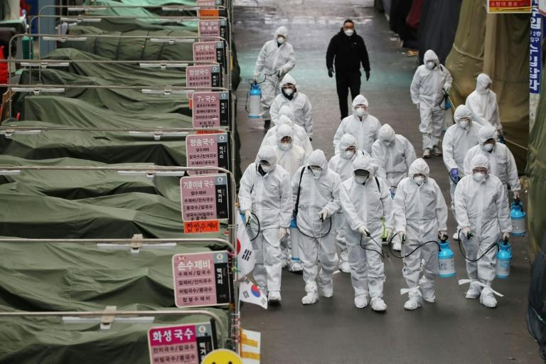 South Korea's virus alert level has been raised to 'red' (AFP Photo/-)
