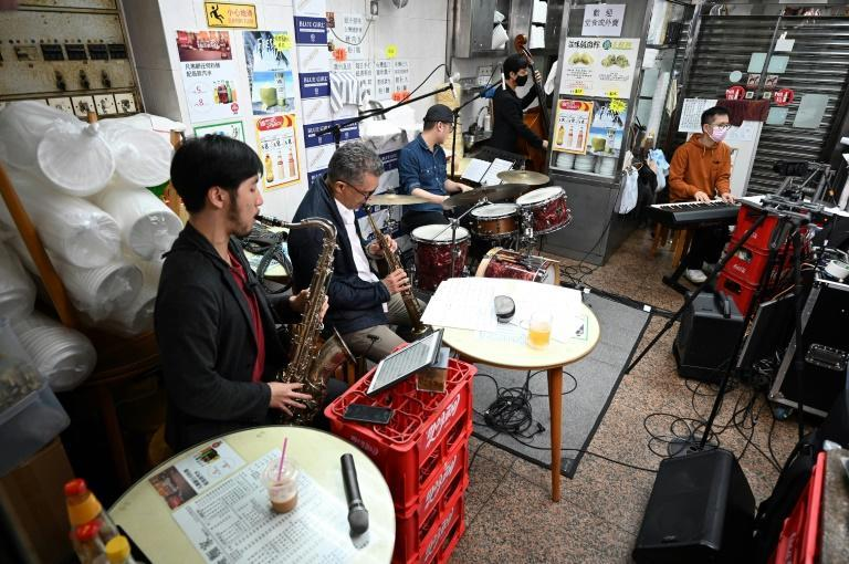 The musicians inside the 47-year-old noodle restaurant streamed their gig online, asking for donations in return from the few hundred who logged in