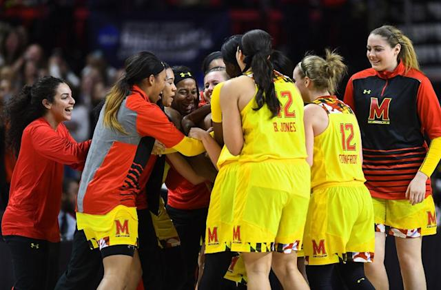 <p><strong>43. Maryland</strong><br>Top 2017-18 sport: field hockey. Trajectory: Steady. Life in the Big Ten continues to be difficult. The Terrapins were in the top 35 in their last season with the ACC and first with the Big Ten, but since then have finished 59th, 50th and this year 53rd. The Terms are good at sports with sticks (field hockey, lacrosse), less so in everything else. </p>