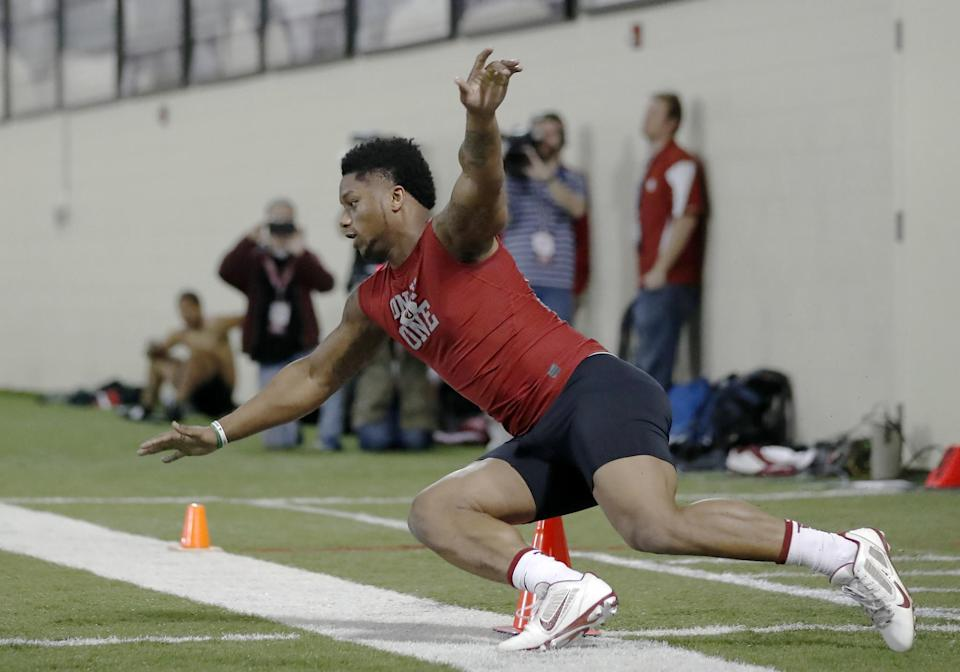 Oklahoma RB Joe Mixon is a talented back but one who comes with major off-field concerns. (AP)