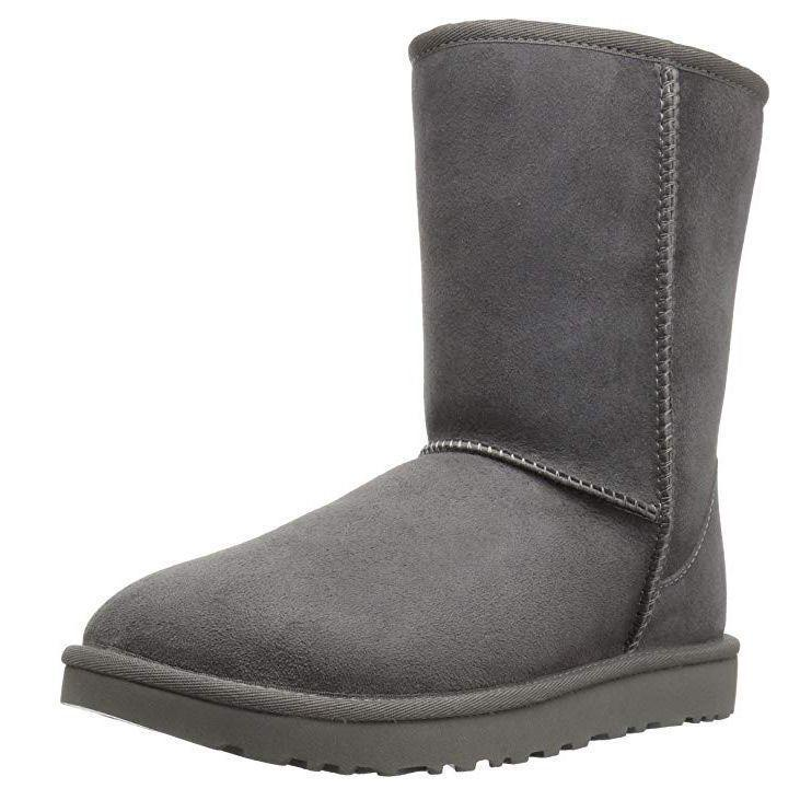 """<p><strong>UGG</strong></p><p>amazon.com</p><p><strong>$169.95</strong></p><p><a href=""""https://www.amazon.com/dp/B01AIHYVN6?tag=syn-yahoo-20&ascsubtag=%5Bartid%7C10055.g.29389536%5Bsrc%7Cyahoo-us"""" rel=""""nofollow noopener"""" target=""""_blank"""" data-ylk=""""slk:Shop Now"""" class=""""link rapid-noclick-resp"""">Shop Now</a></p><p>Winter season is the perfect time to snuggle up and be extra cozy. These classic UGG boots are the ideal snuggle buddy. <strong>Made with 100% sheepskin and suede</strong>, these boots have an unbeatable fuzzy soft interior, while the exterior is treated to repel moisture. Note that they are not waterproof, so don't wear outside in thick snow or rain. They're available in 14 shades from earthy neutrals to light pinks and blues.</p>"""