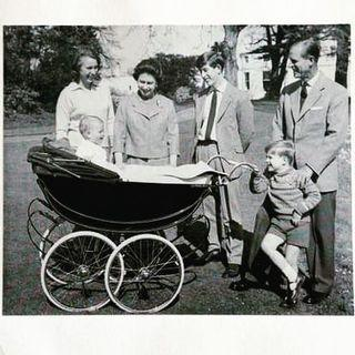 """<p>The family are seen looking at Prince Edward, who was 1-year-old at the time the photo was taken. The image was shared by the royal family later that year ahead of Christmas. </p><p><a href=""""https://www.instagram.com/p/BrVvlPtFHqT/?utm_source=ig_web_copy_link"""" rel=""""nofollow noopener"""" target=""""_blank"""" data-ylk=""""slk:See the original post on Instagram"""" class=""""link rapid-noclick-resp"""">See the original post on Instagram</a></p>"""