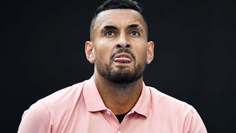 Nick Kyrgios, pictured here in action at the Australian Open in January.